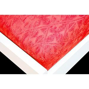 Žakárové prostěradlo (160 x 200) Premium - Červená