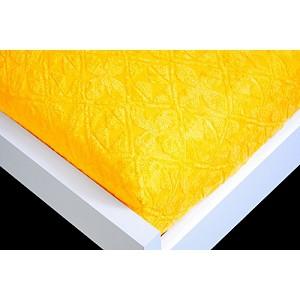 Žakárové prostěradlo (180 x 200) Premium - Zlatá