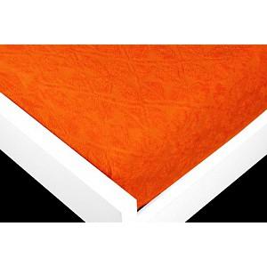 Žakárové prostěradlo (90 x 200) Premium - Oranžová