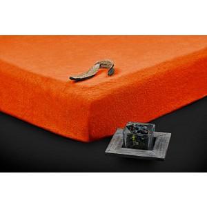 Froté prostěradlo (220 x 200) Premium - Oranžová