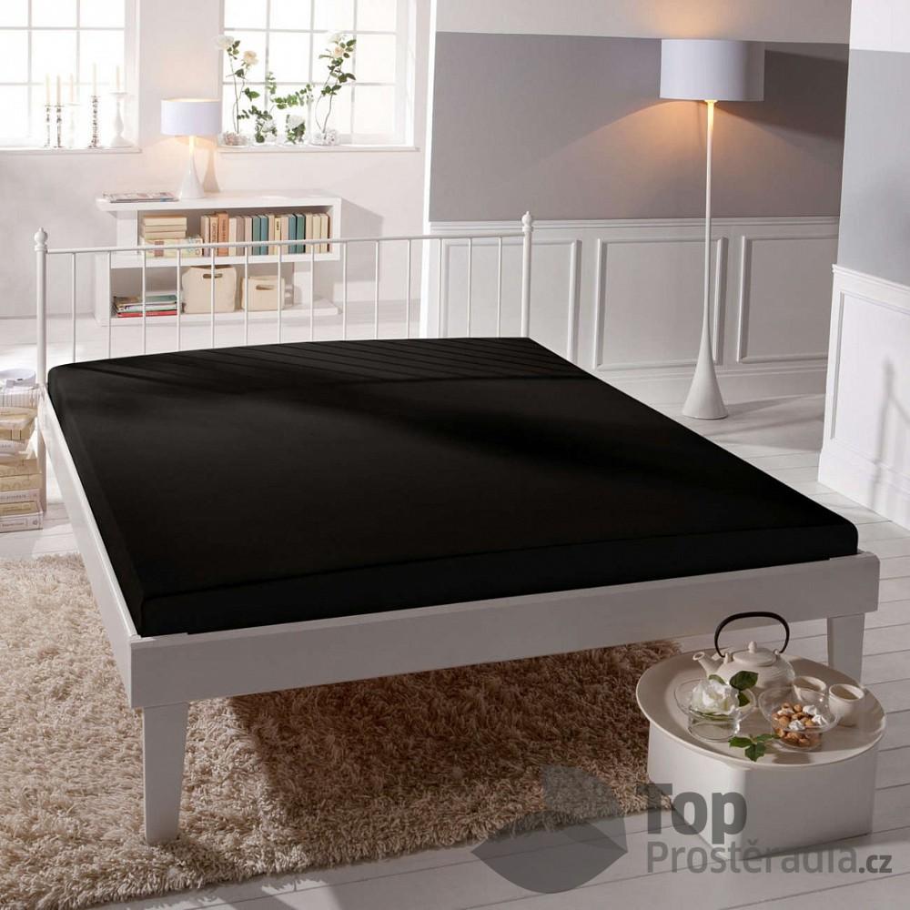 TP Jersey prostěradlo Premium 190g/m2 140x200 Černá