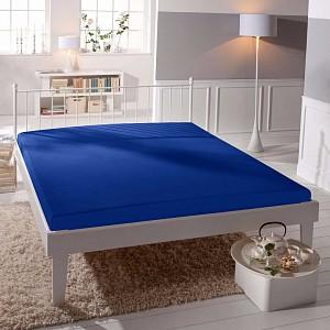 Jersey prostěradlo (160 x 200) Premium - Modrá
