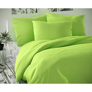 Saténové prodloužené povlečení LUXURY COLLECTION 140x220+70x90cm světle zelené