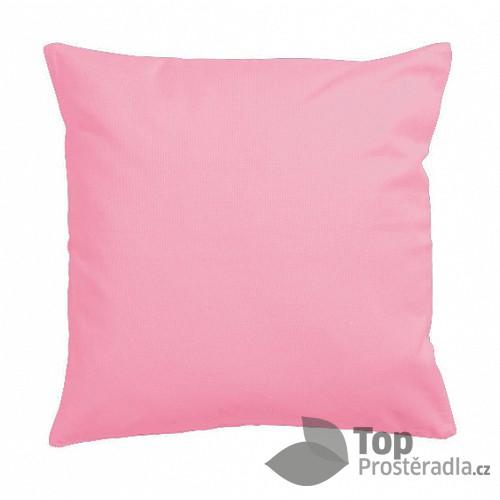 TOP Saténový povlak na polštářek UNI růžová 40x40