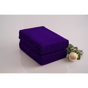 Froté prostěradlo do postýlky (60 x 120) Premium - Tmavě fialová