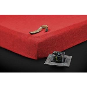 Froté prostěradlo do postýlky (60 x 120) Premium - Červená