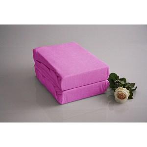 Froté prostěradlo do postýlky (60 x 120) Premium - Růžová