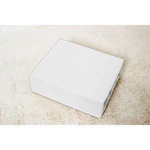 Jersey prostěradlo do postýlky (60 x 120) Premium - Bílá