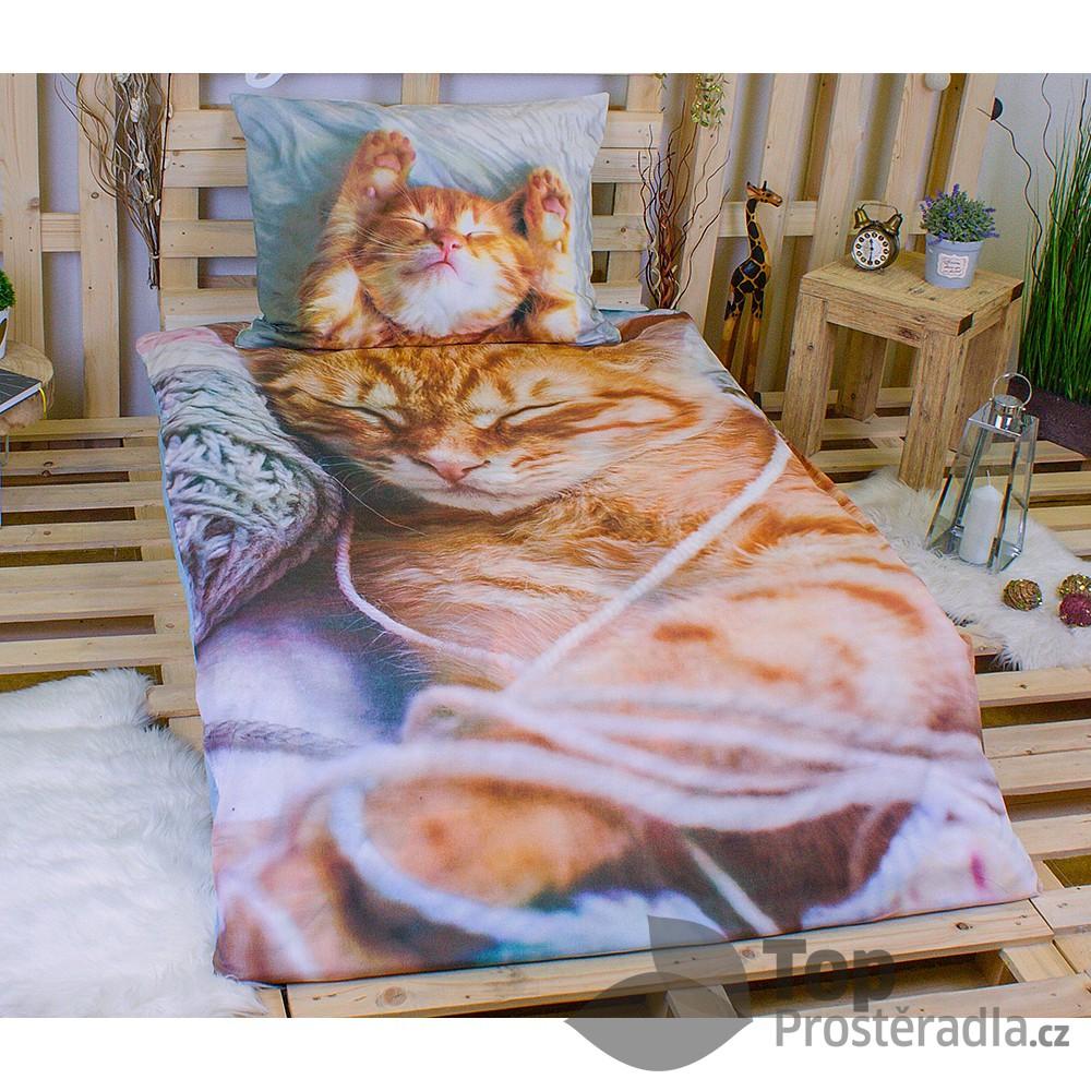 Jerry Fabrics 3D povlečení bavlna 140x200 70x90 Mourek