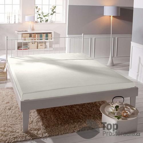 Velké Prostěradlo bavlněná plachta PREMIUM 220x240 - Bílá