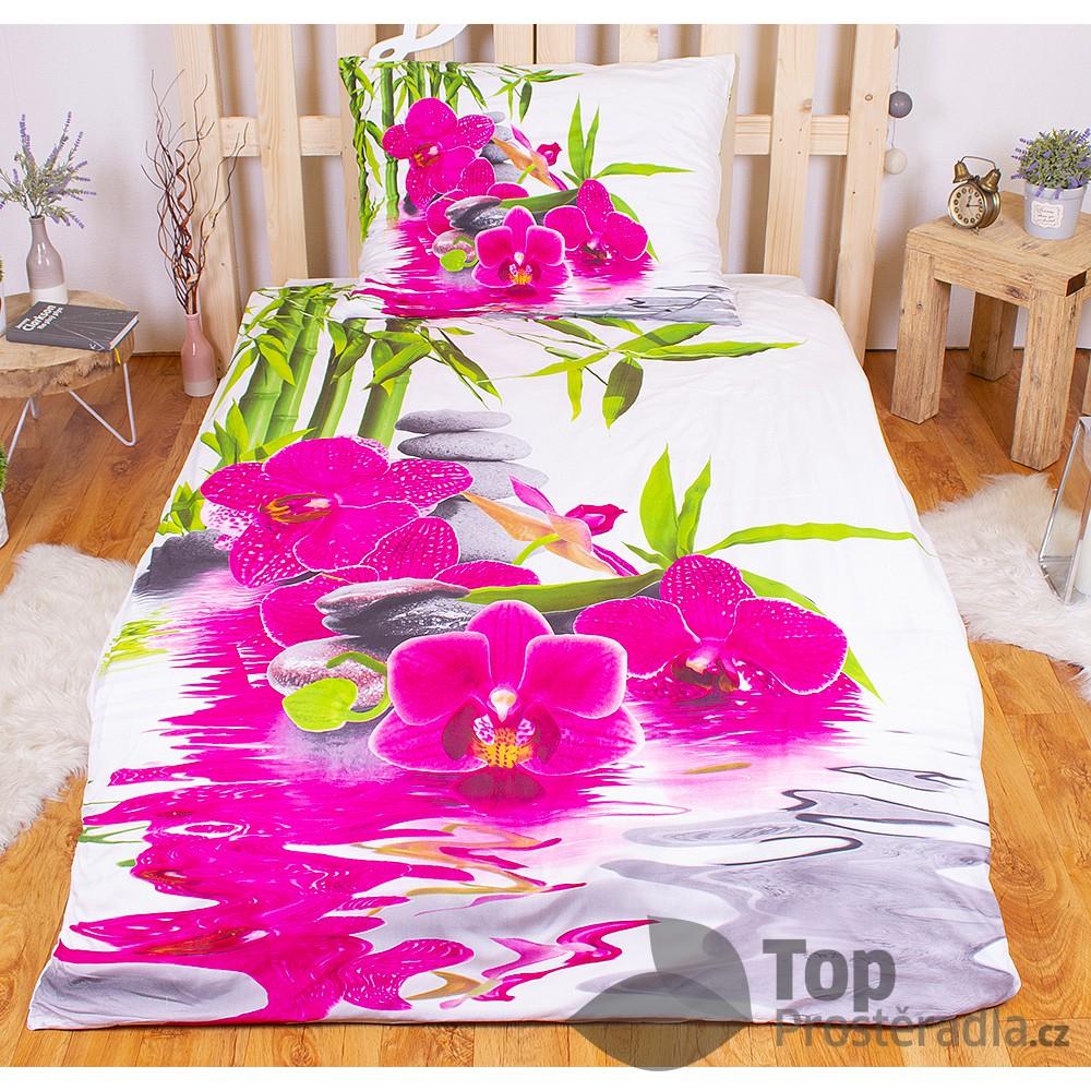 Levně 3D povlečení 140x200 + 70x90 - Sweet Orchidea