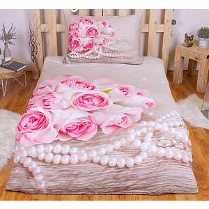 3D povlečení 140x200 + 70x90 - Pearl Rose