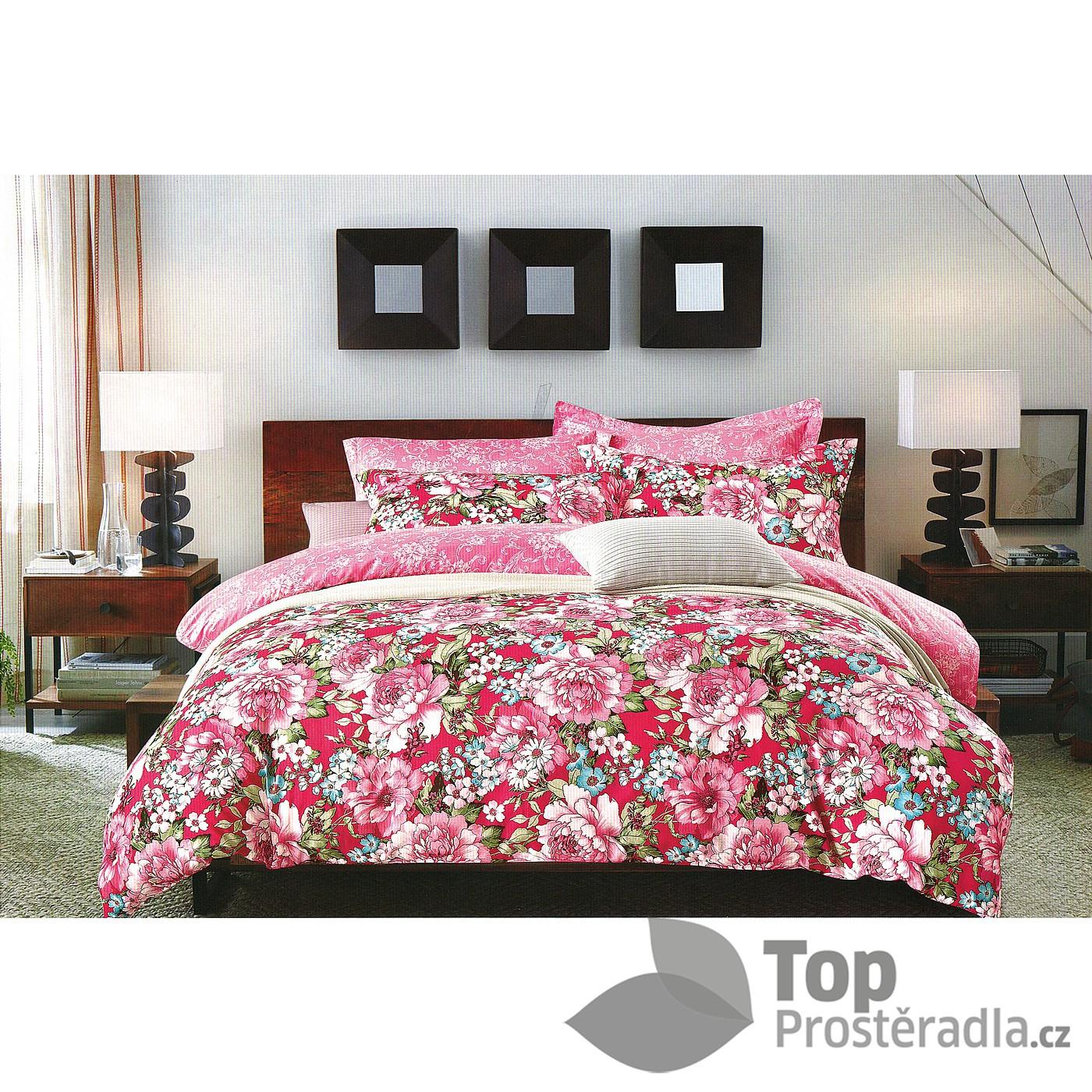 TOP Prošívaný dekorační přehoz 240x260 Rose garden