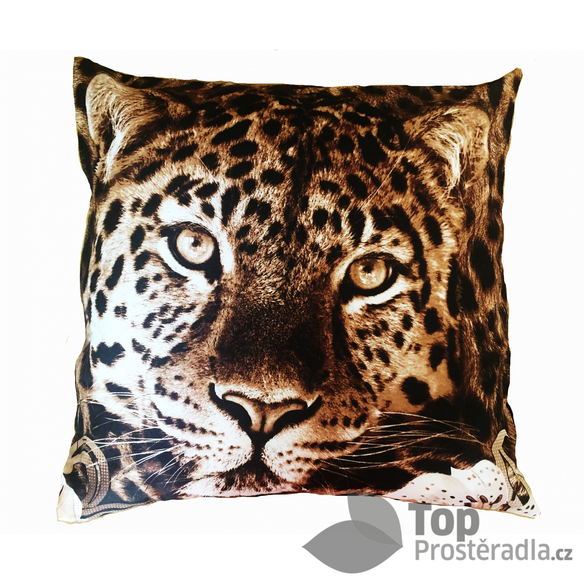TOP Povlak na polštářek Leopard 3D 50x50