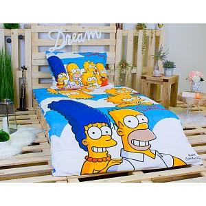 Bavlněné povlečení Simpsonovi rodinka 140x200+70x90