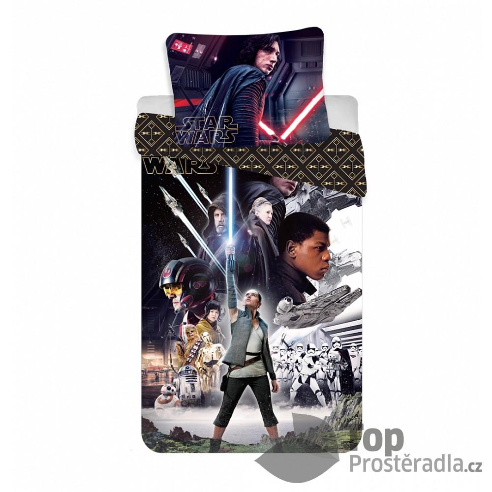 Bavlněné povlečení 140x200 70x90 Star Wars VIII