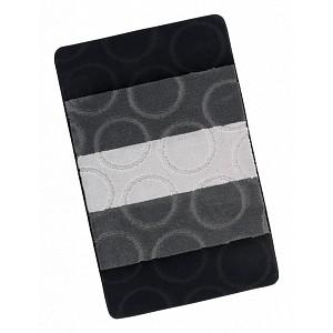 Koupelnová předložka 60x100cm šedé kroužky