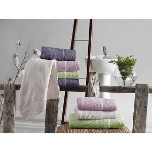 Bambusový ručník Sofia - Světle zelený