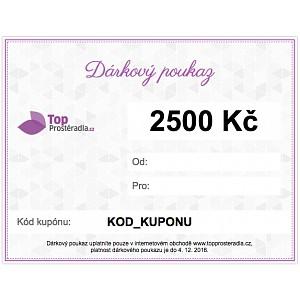 Dárkový poukaz na 2500 Kč