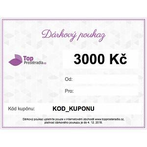 Dárkový poukaz na 3000 Kč
