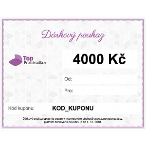 Dárkový poukaz na 4000 Kč
