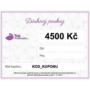 Dárkový poukaz na 4500 Kč