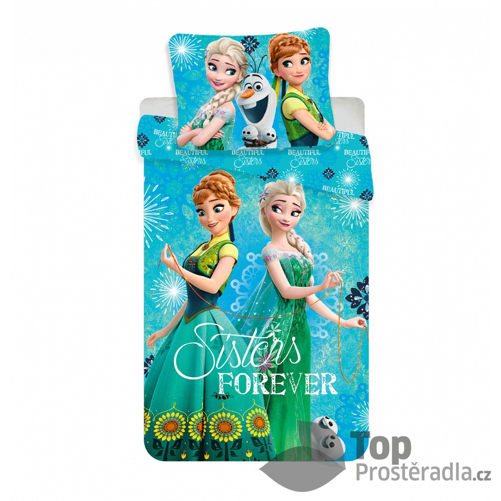 Dětské bavlněné povlečení 140x200 70x90 Frozen Forever