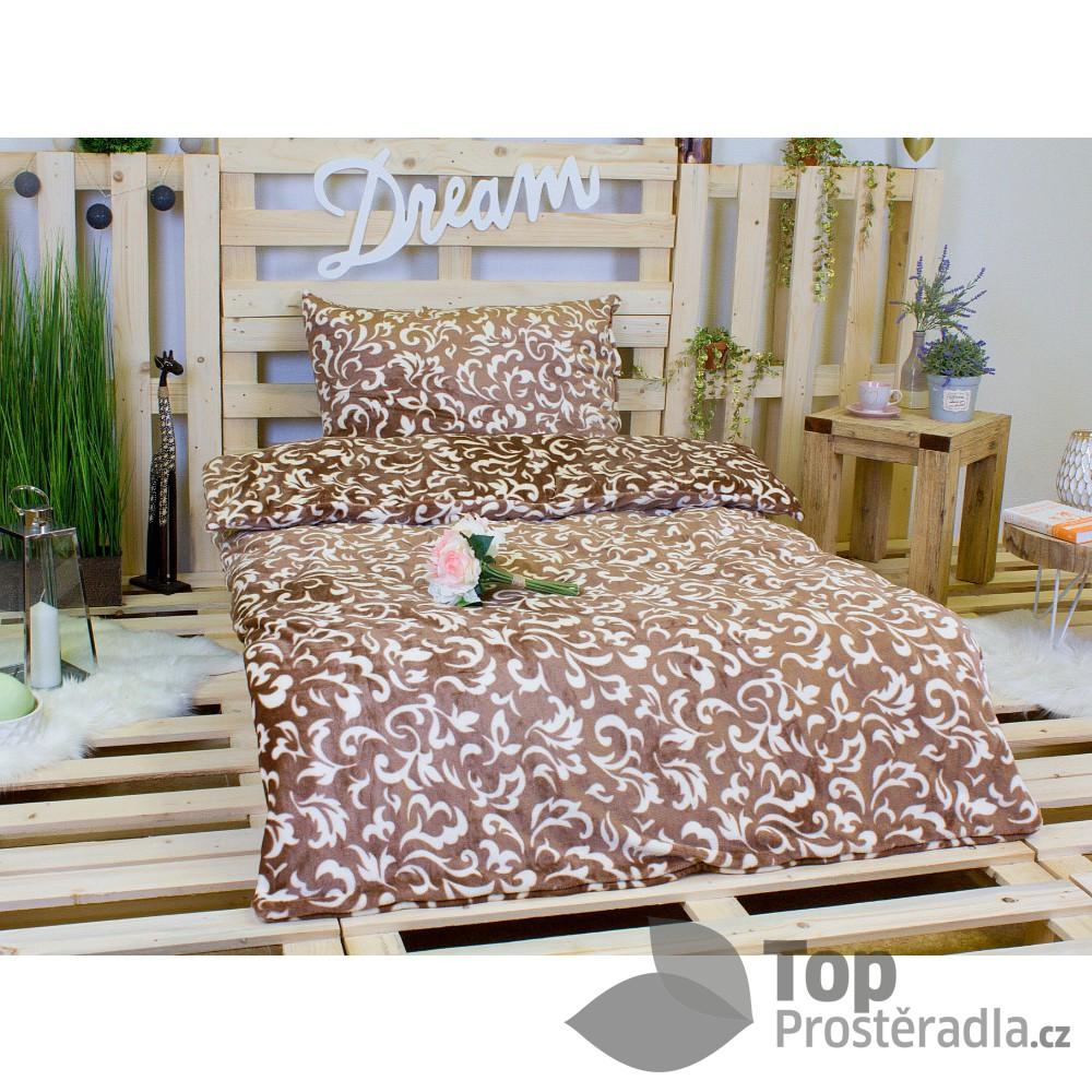 TOP Povlečení mikroflanel DELUXE Floral 140x200+70x90