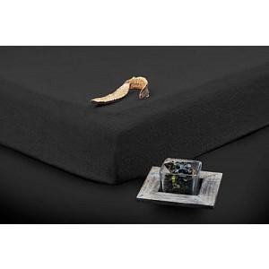 Froté prostěradlo (90 x 200) Premium - Černá