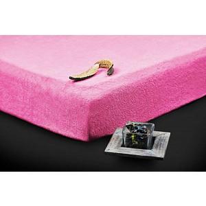 Froté prostěradlo (90 x 200) Premium - Růžová