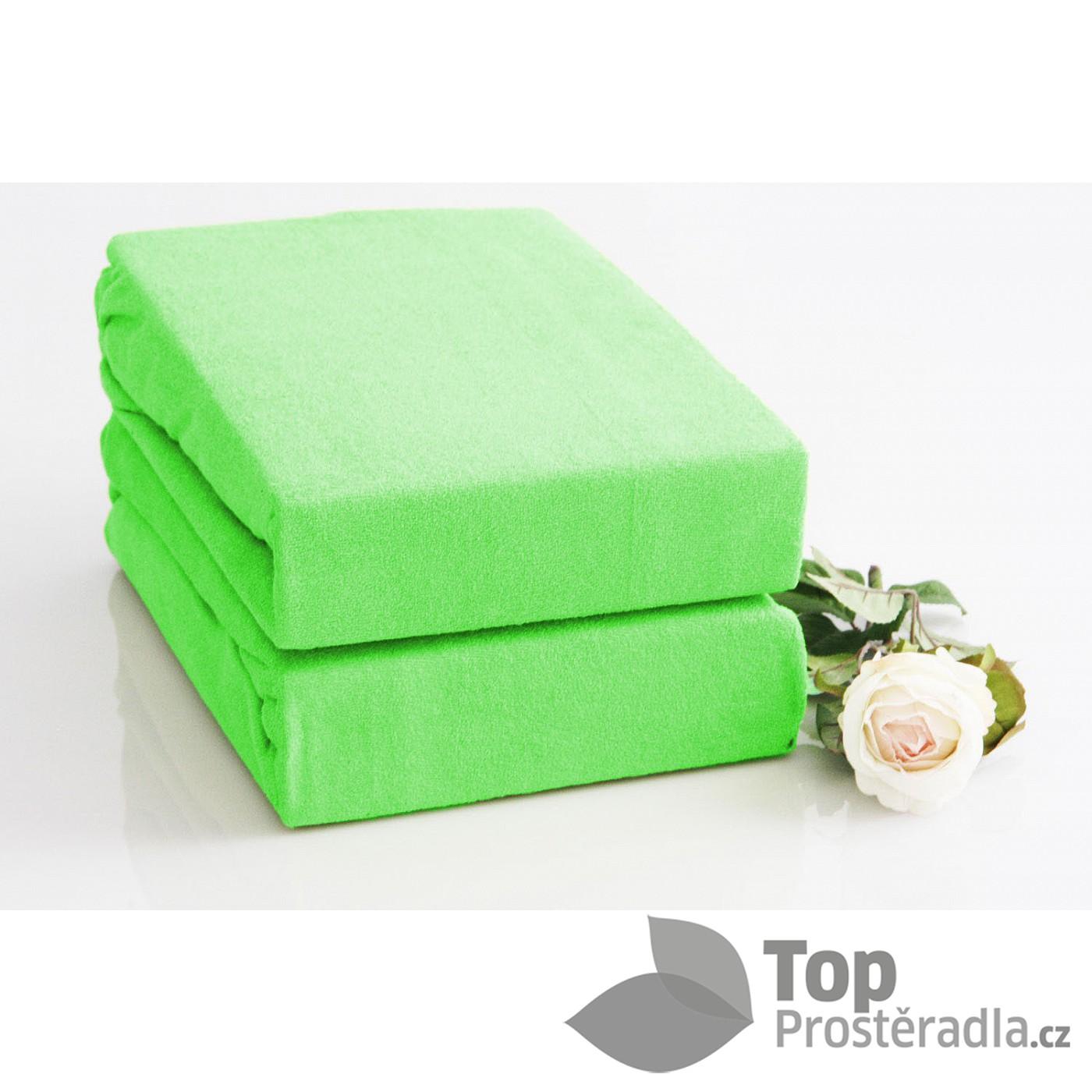 TP Froté prostěradlo Premium 190g/m2 90x200 Světle zelená