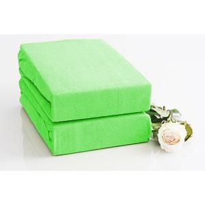 Froté prostěradlo (90 x 200) Premium - Světle zelená