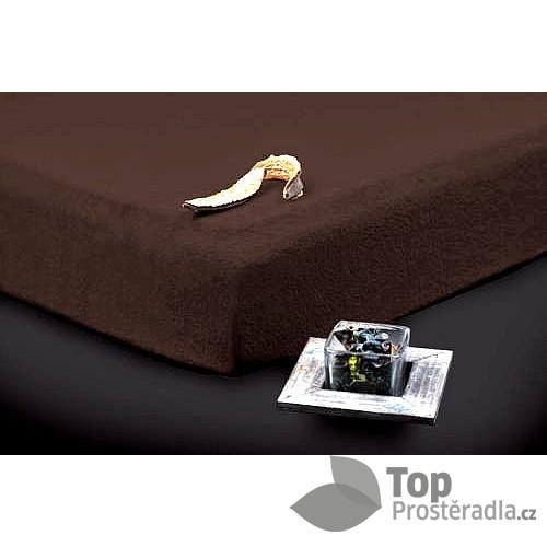 TP Froté prostěradlo Premium 190g/m2 90x200 Tmavě hnědá