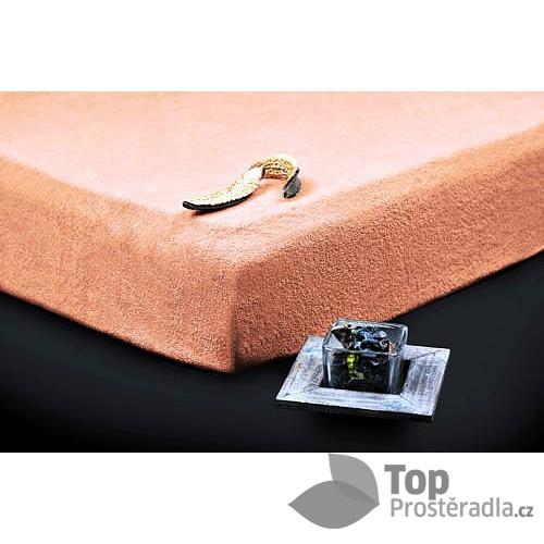 TP Froté prostěradlo Premium 190g/m2 90x200 Losos