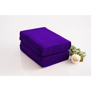 Froté prostěradlo (180 x 200) Premium - Tmavě fialová