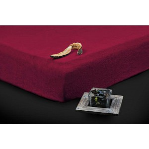 Froté prostěradlo (180 x 200) Premium - Vínová
