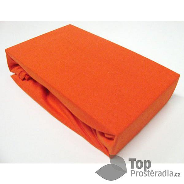 TP Jersey prostěradlo Premium 190g/m2 90x200 Oranžová