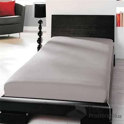 Jersey prostěradlo (90 x 200) Premium - Šedá