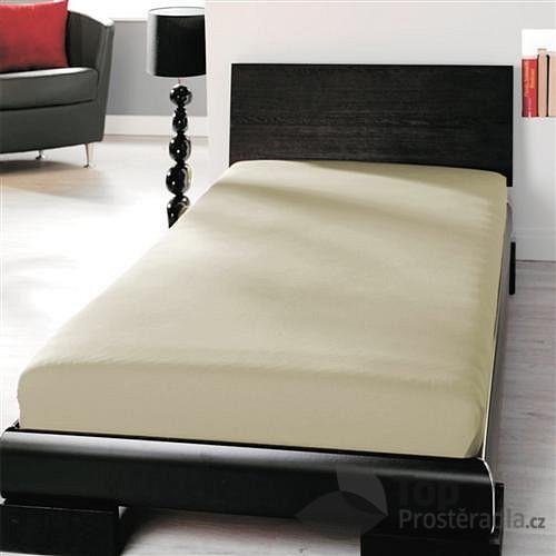 Jersey prostěradlo (90 x 200) Premium - Béžová