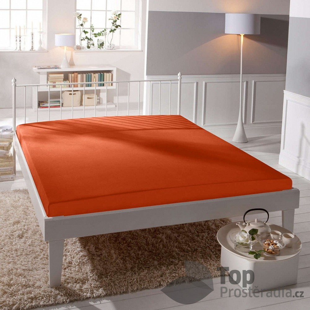 TP Jersey prostěradlo Premium 190g/m2 180x200 Oranžová