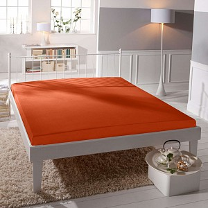 Jersey prostěradlo (180 x 200) Premium - Oranžová