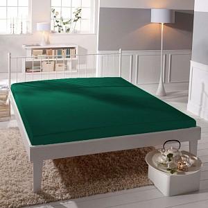 Jersey prostěradlo (180 x 200) Premium - Tmavě zelená