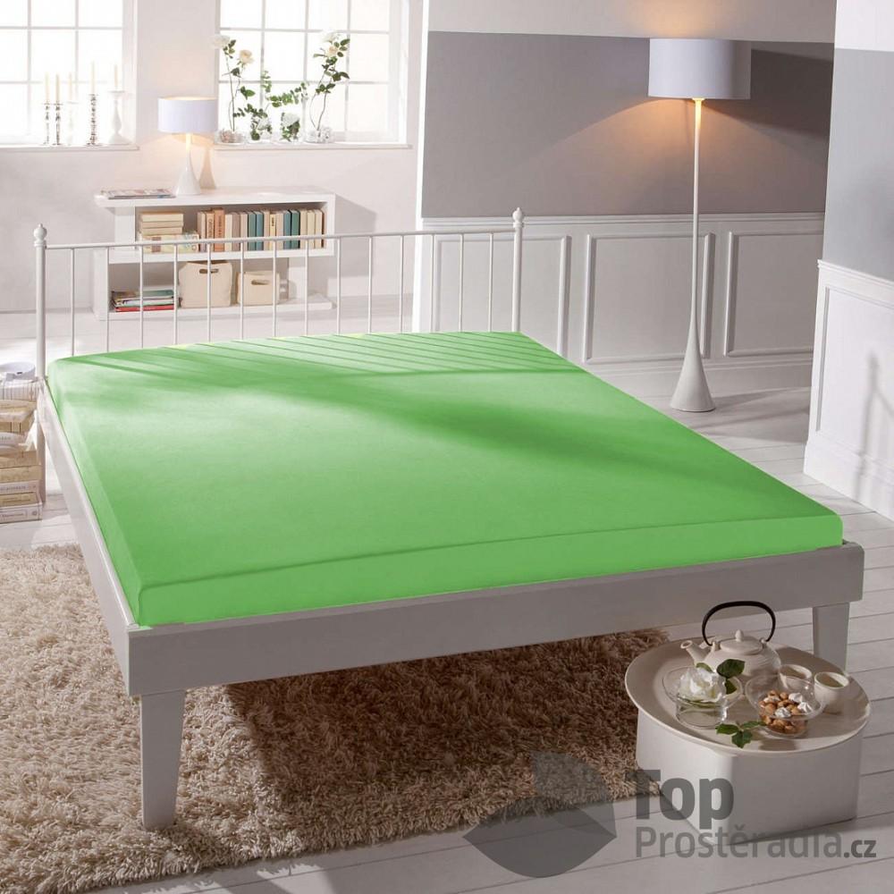 TP Jersey prostěradlo Premium 190g/m2 180x200 Zelená