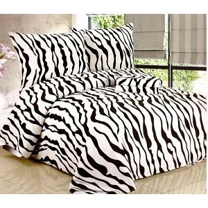 Povlečení mikrovlákno (70x90 + 140x200 cm) Zebra