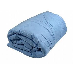 Celoroční přikrývka z dutého vlákna Economy modro-bílá 140x200