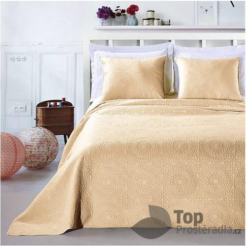 TOP Prošívaný dekorační přehoz s povlaky 240x260+2x50x60 Elodie