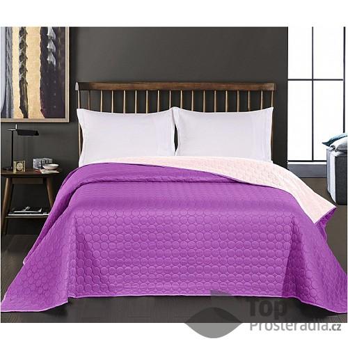 Prošívaný dekorační přehoz 240x260 Salice fialová
