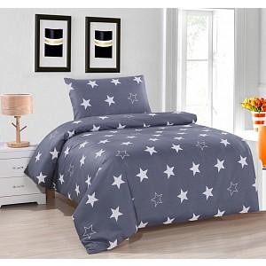 Hebké povlečení 140x200+70x90 Grey stars