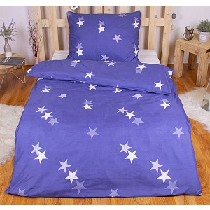 Hebké povlečení 140x200+70x90 Blue stars