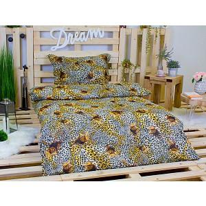 Bavlněné povlečení 140x200+70x90 - Gepardi